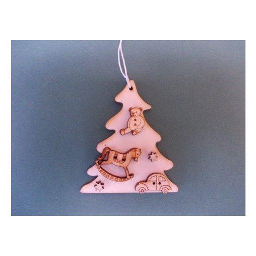 Fenyő ajándékokkal karácsonyfa dísz