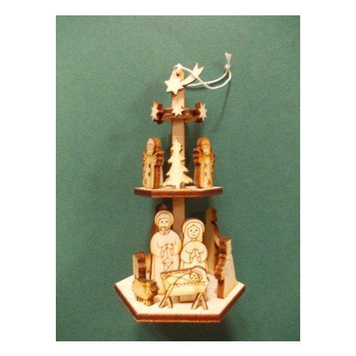 Piramid karácsonyfa dísz