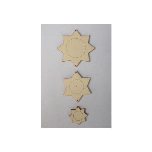 Csillag füzér fa forma  3db/csom.